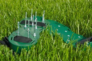 Spiked Sandals for Aerating Your Lawn