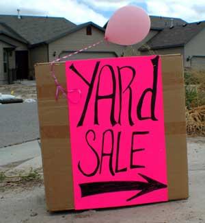 yard sale this way!