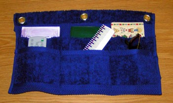 School Organizer Made from Towels