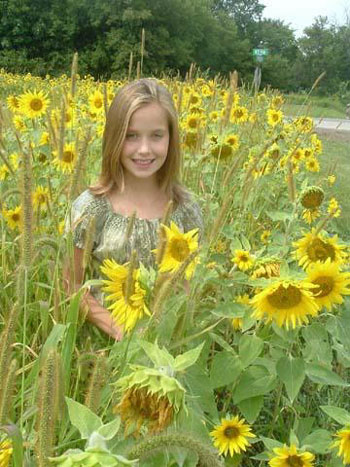 Mackenzie in the Sunflowers