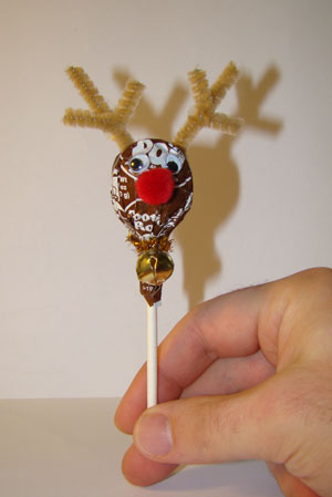 Craft: Tootsie Pop Reindeer