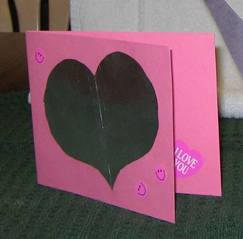 Homemade Heart Valentine's Day Card. By Stacey from Orem, UT