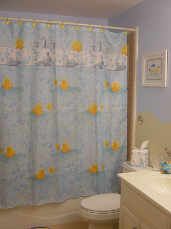 Yellow and Blue Bathroom Redo