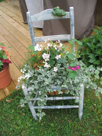 Chair with Flowers (Garden Decor)