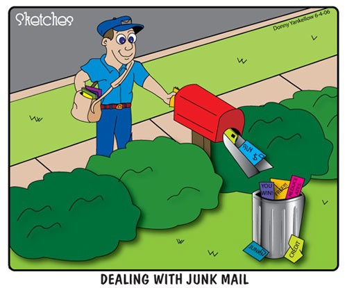 dealing with junk mail