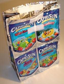 Juice Pouch Lunch Bag - Adding the Velcro